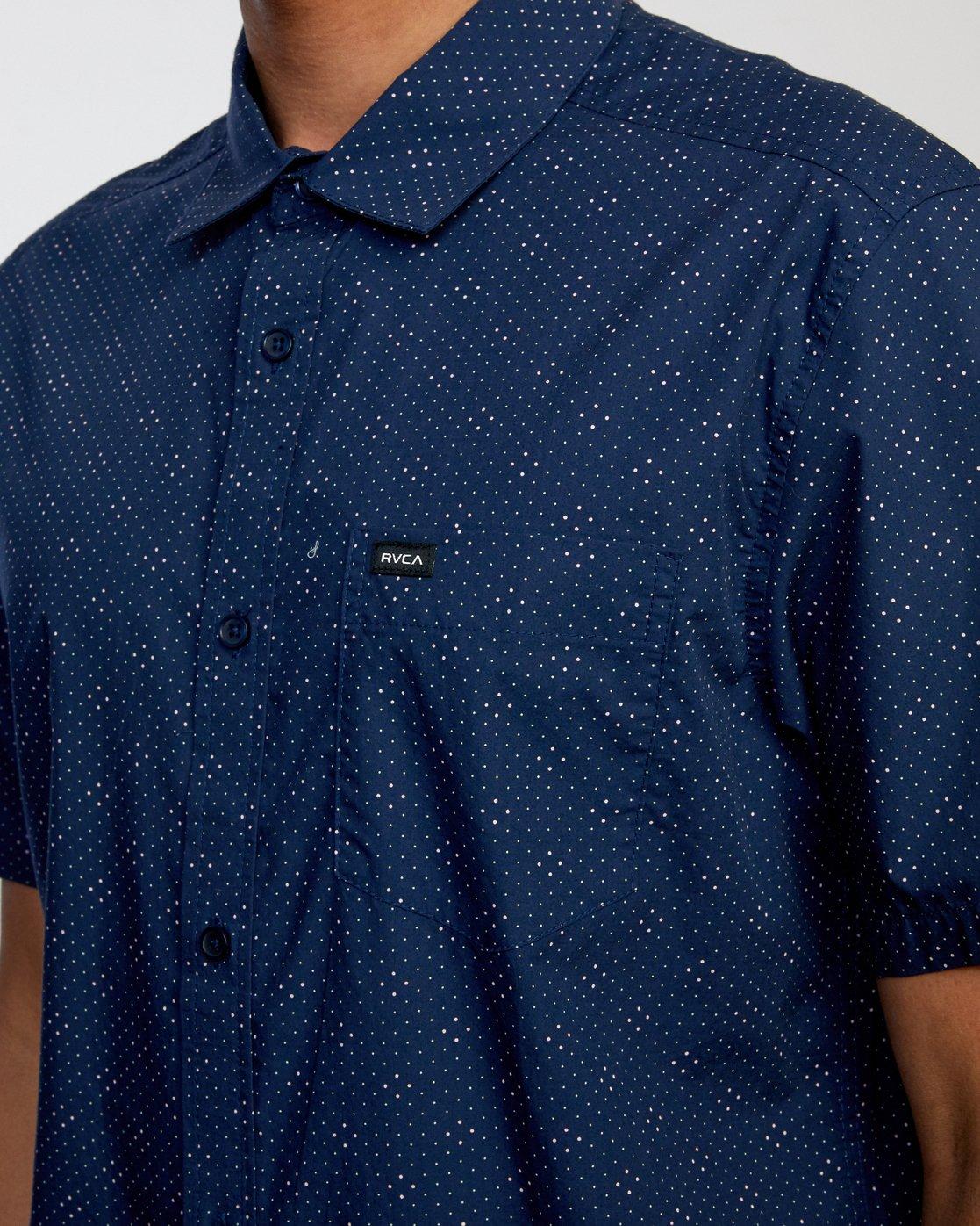 3 Carlo Dot - Short Sleeve Shirt for Men  W1SHSHRVP1 RVCA