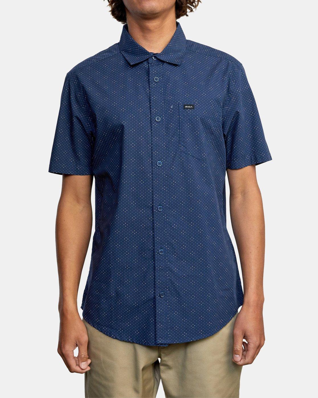 1 Carlo Dot - Short Sleeve Shirt for Men  W1SHSHRVP1 RVCA