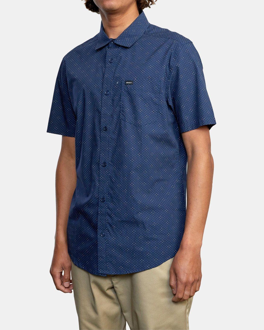 4 Carlo Dot - Short Sleeve Shirt for Men  W1SHSHRVP1 RVCA