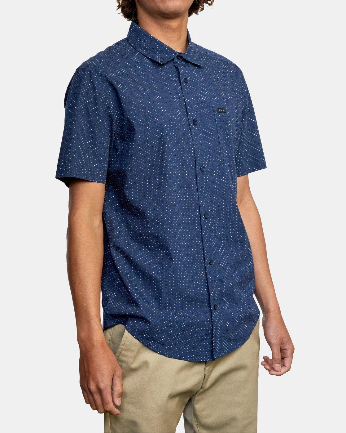 6 Carlo Dot - Short Sleeve Shirt for Men  W1SHSHRVP1 RVCA