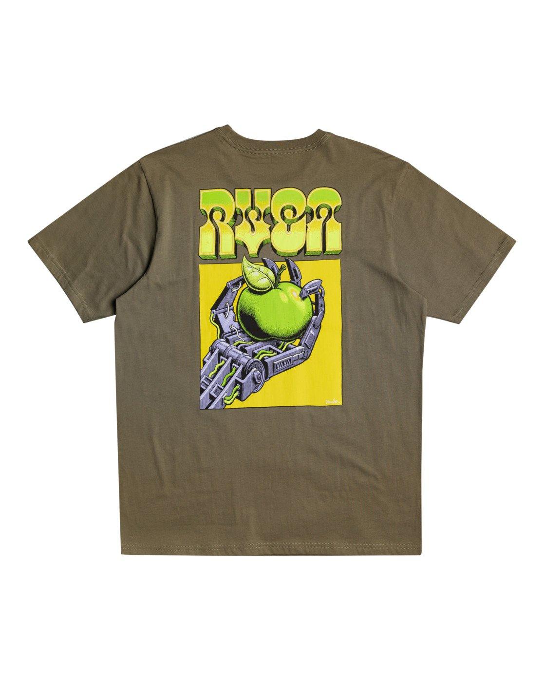 0 Martin Ander Applerobot - T-shirt pour Homme Vert W1SSRLRVP1 RVCA