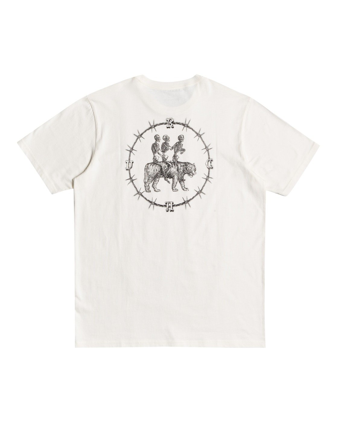 0 Benjamin Jeanjean Skeleton Walk - T-Shirt for Men White W1SSRPRVP1 RVCA