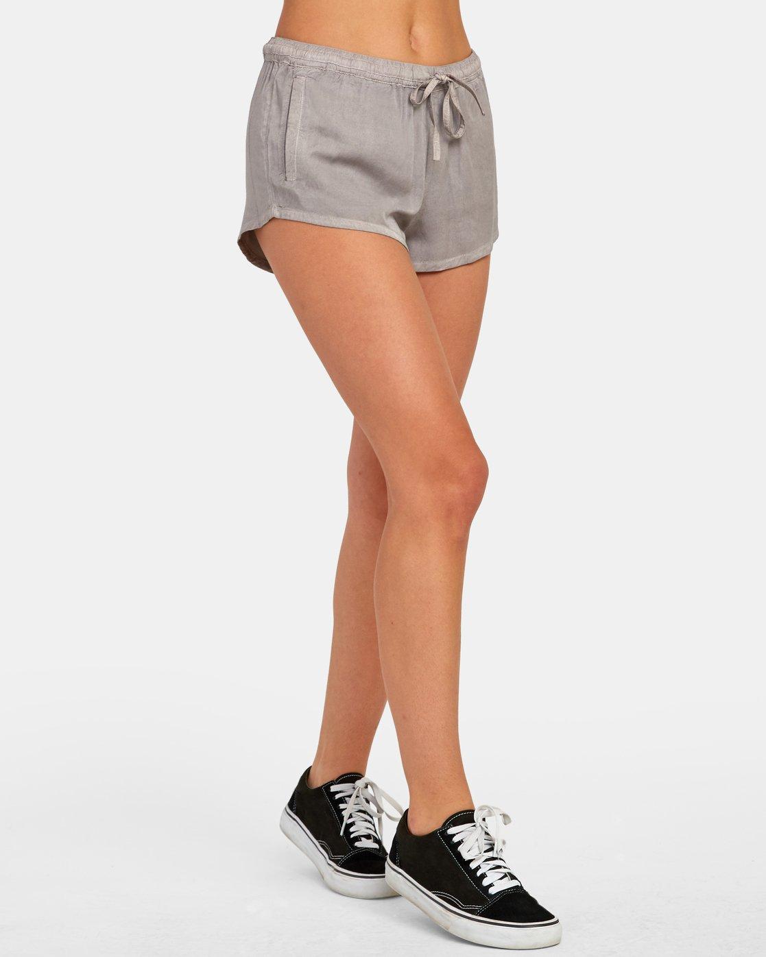 5 Camron Elastic Short Grey W2011RCA RVCA