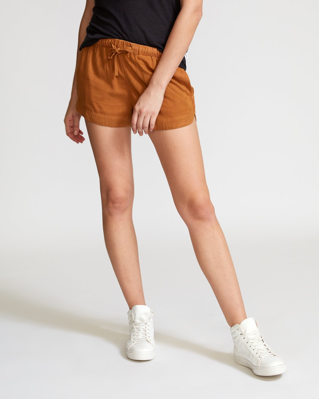 1 New Yume Elastic Short Orange W202PRNY RVCA
