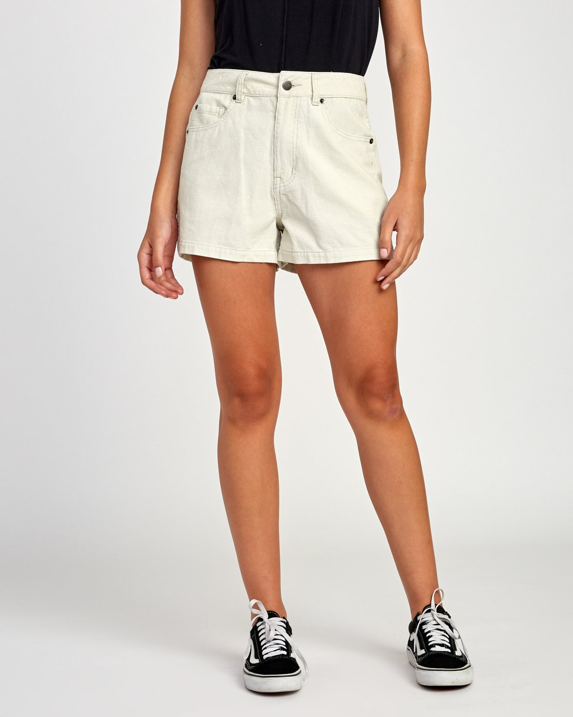 1 Lyric High Rise Corduroy Short Beige W202VRLY RVCA