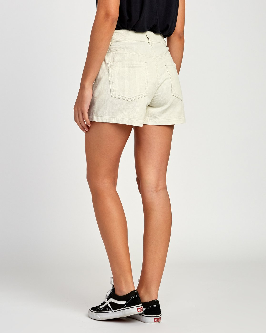 3 Lyric High Rise Corduroy Short Beige W202VRLY RVCA