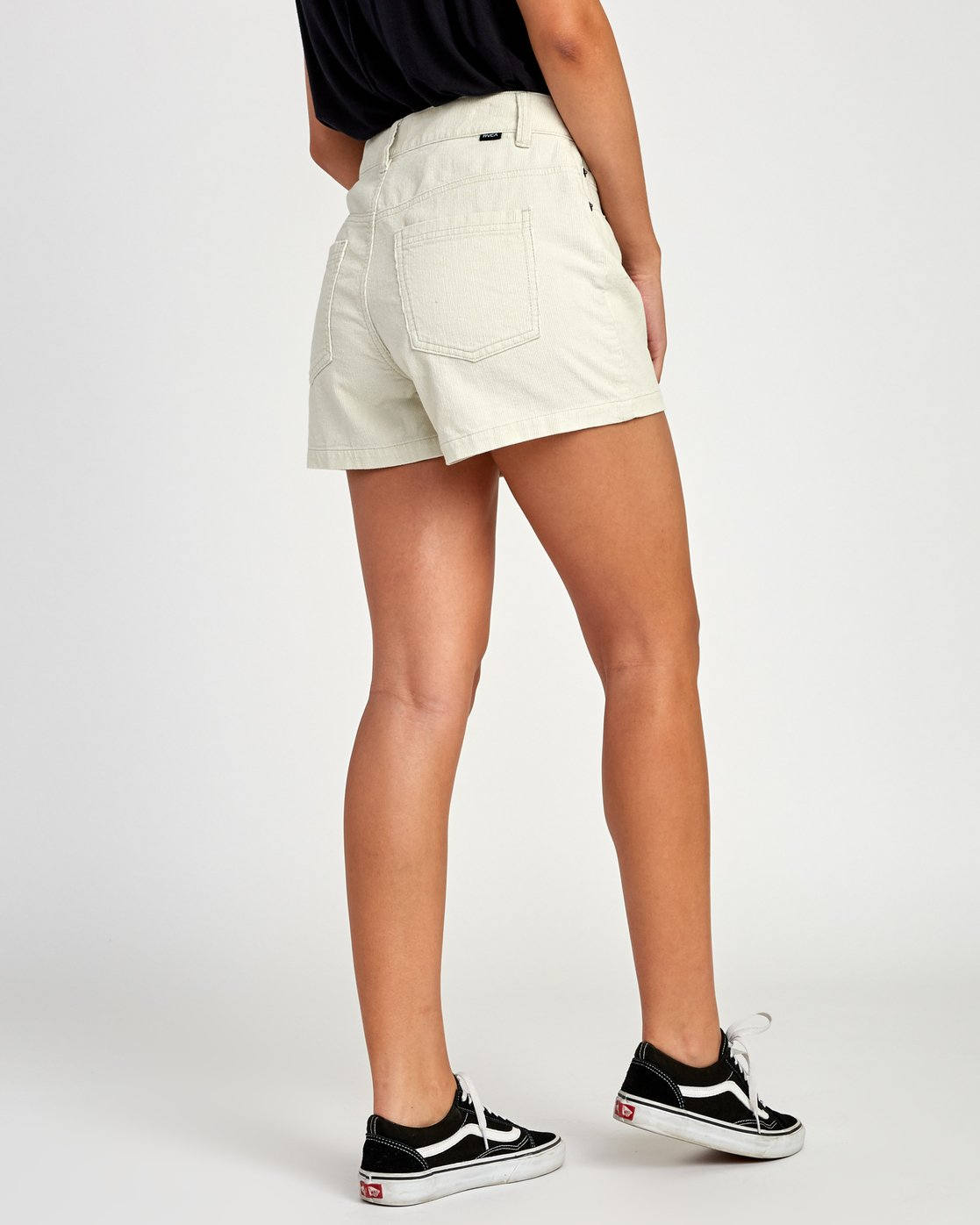 5 Lyric High Rise Corduroy Short Beige W202VRLY RVCA