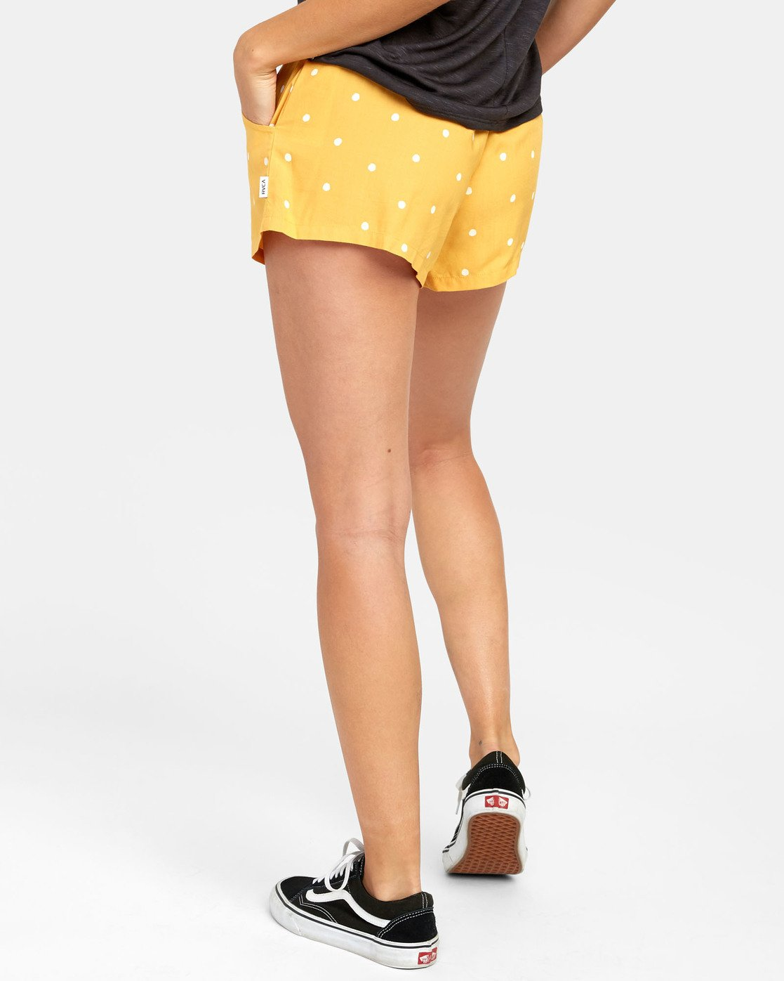 5 SUGGEST DOT PRINT SHORT Yellow W2031RSU RVCA