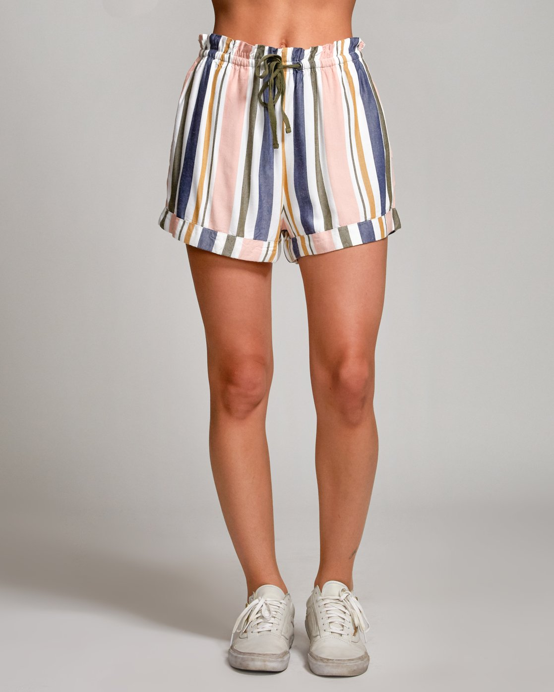1 Jaywalk Striped Elastic Short Multicolor W204URJA RVCA