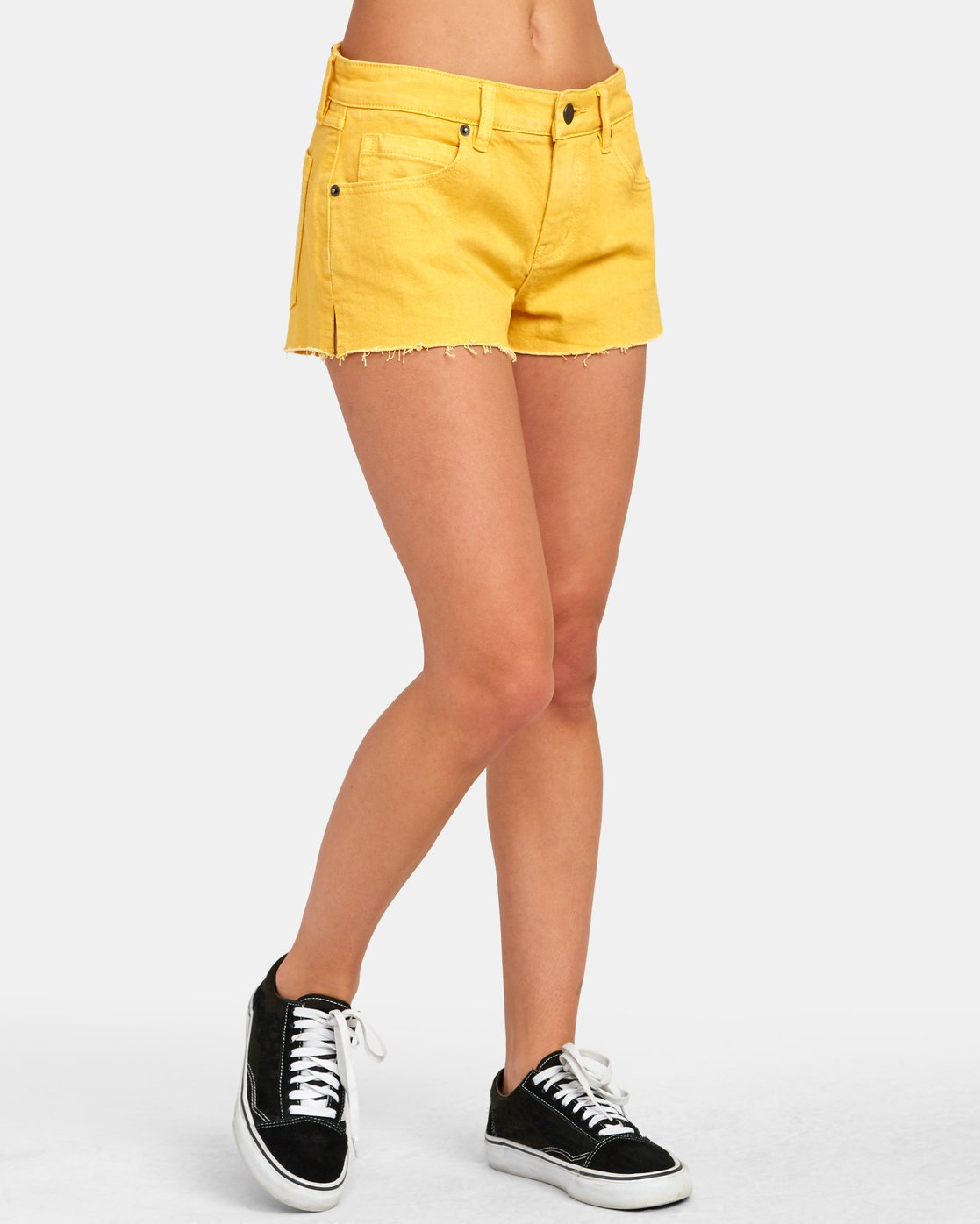 1 CUPID 2 DENIM SHORT Yellow W2051RCU RVCA