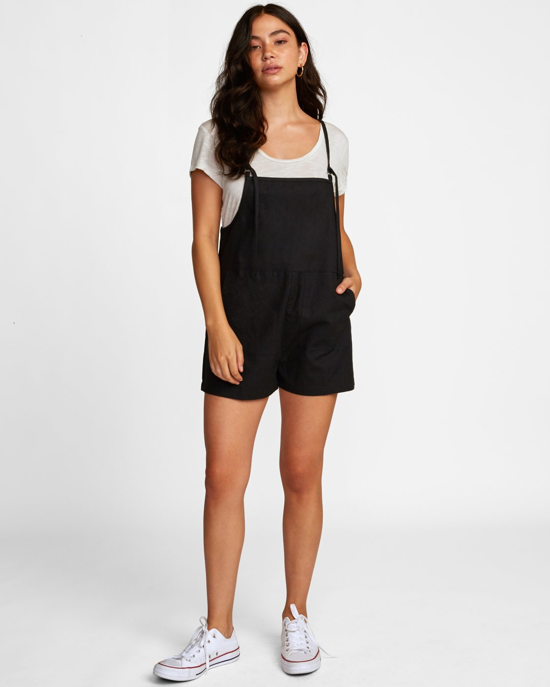 1 KICK IT OVERALL Black W2062RKI RVCA