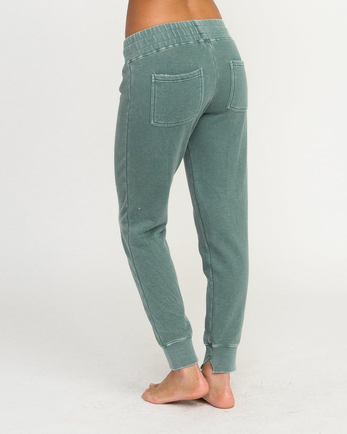 2 Faint Fleece Sweat Pant Green W301QRFA RVCA