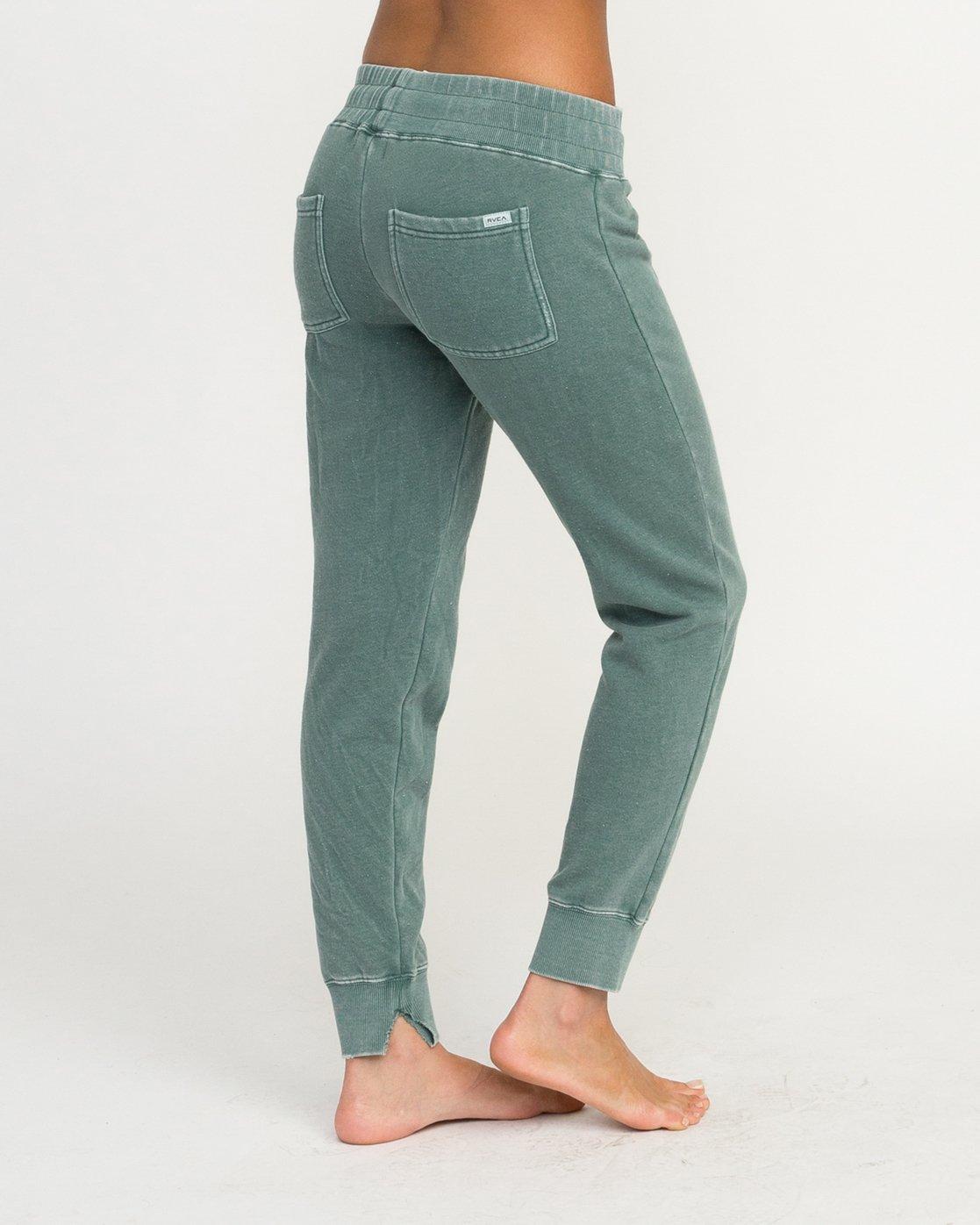 4 Faint Fleece Sweat Pant Green W301QRFA RVCA