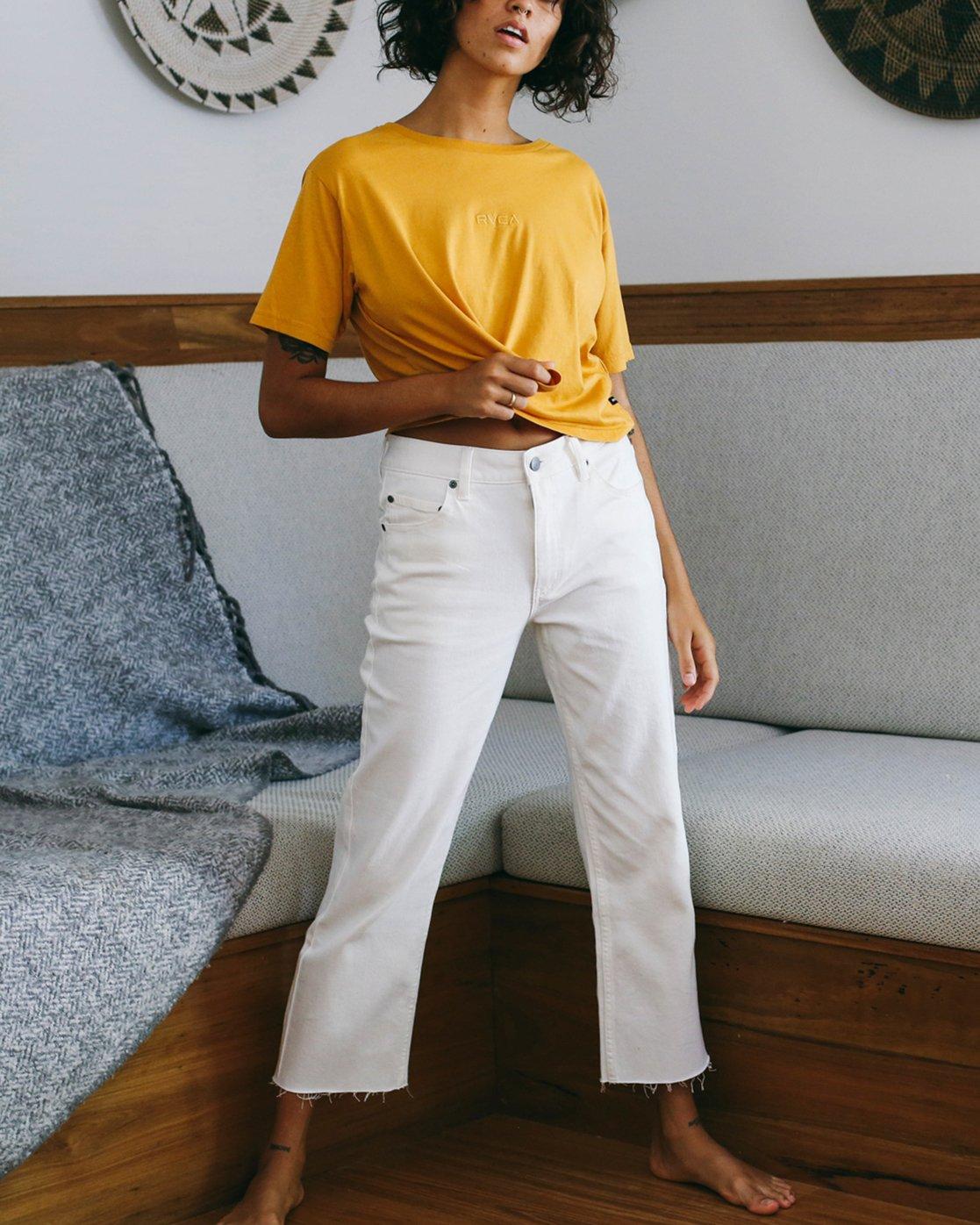 0 Filtered Straight Leg Denim Jean White W301QRFL RVCA