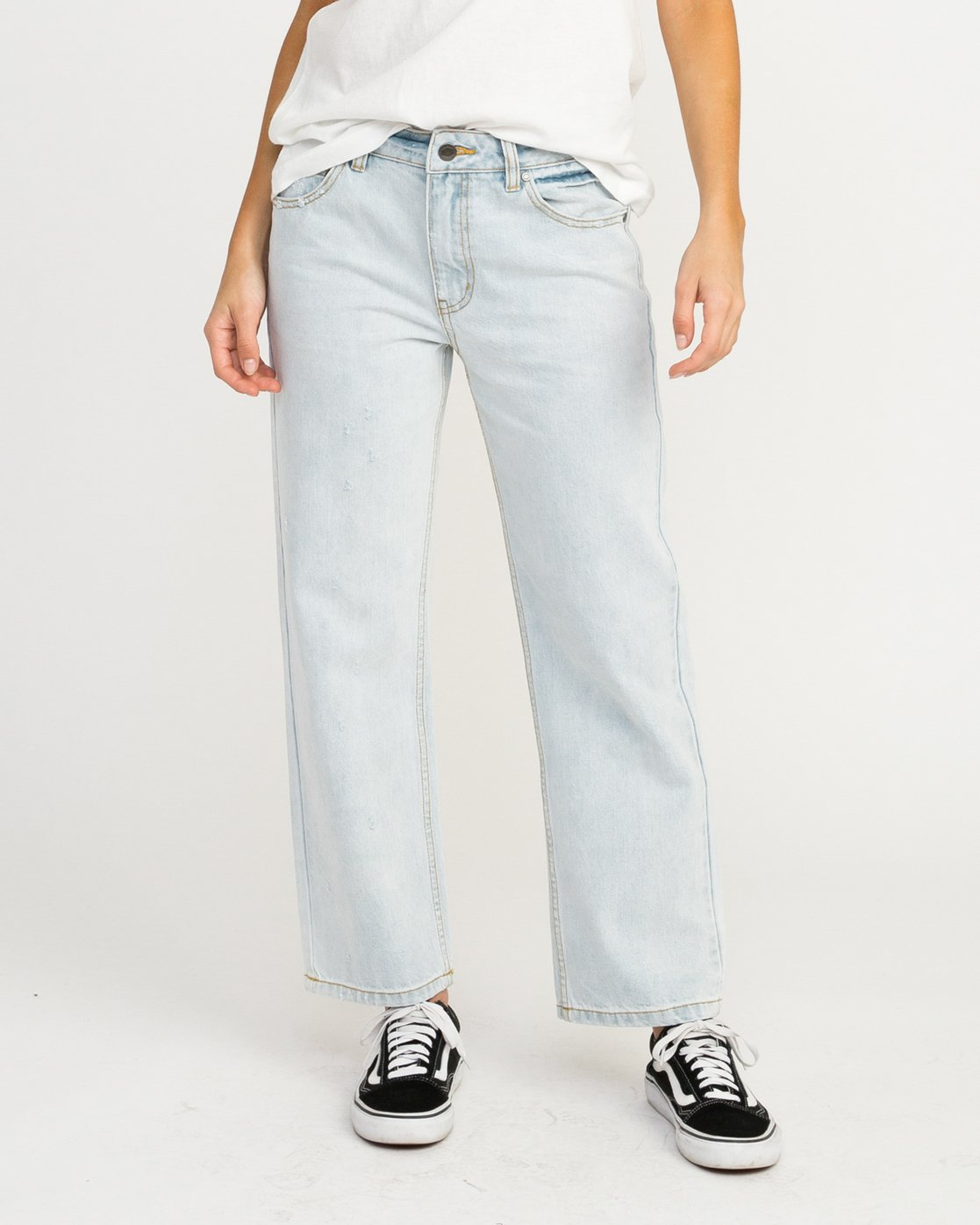 0 Filtered Straight Leg Denim Jean White W301QRFL RVCA