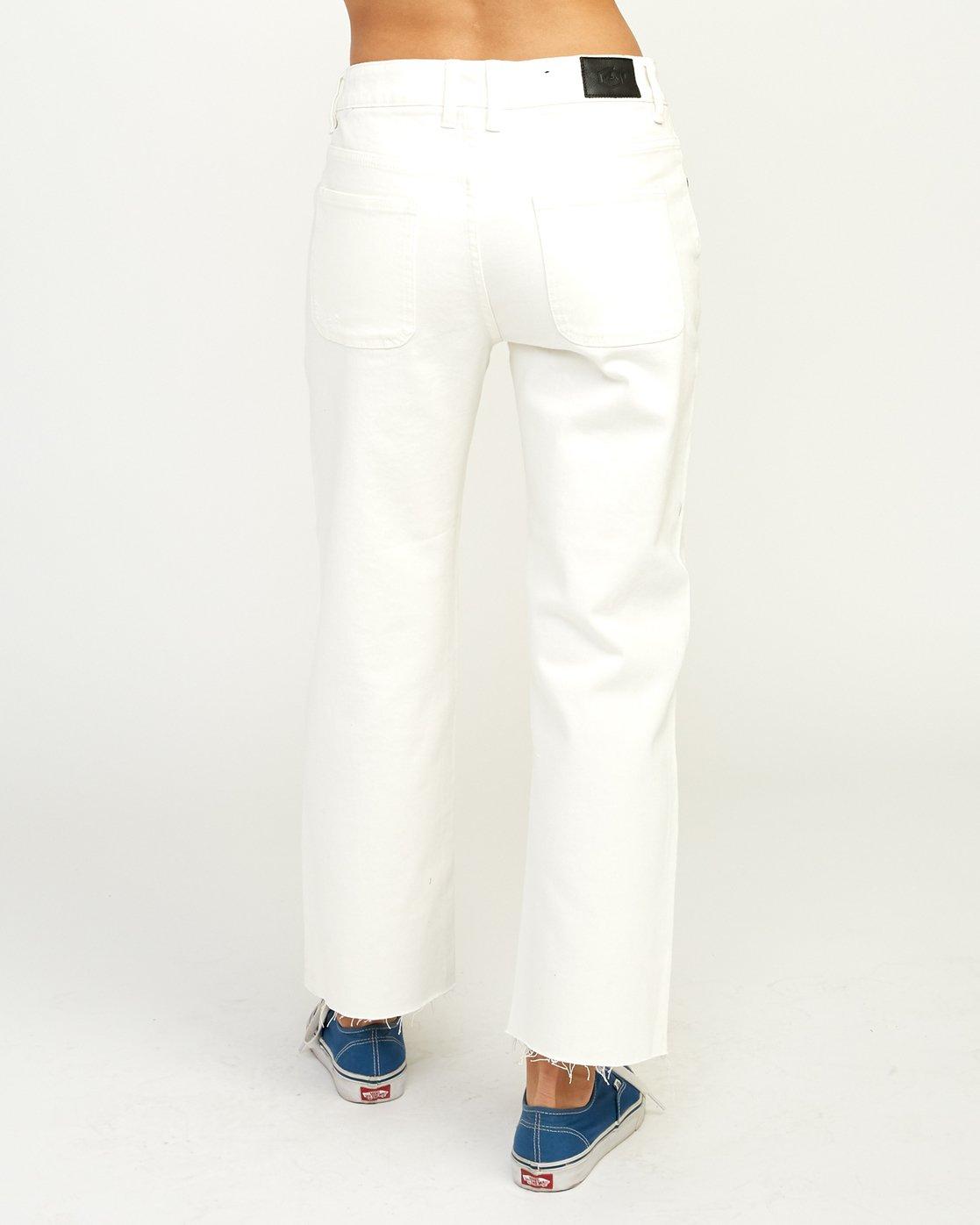 5 Filtered Straight Leg Denim Jean White W301QRFL RVCA