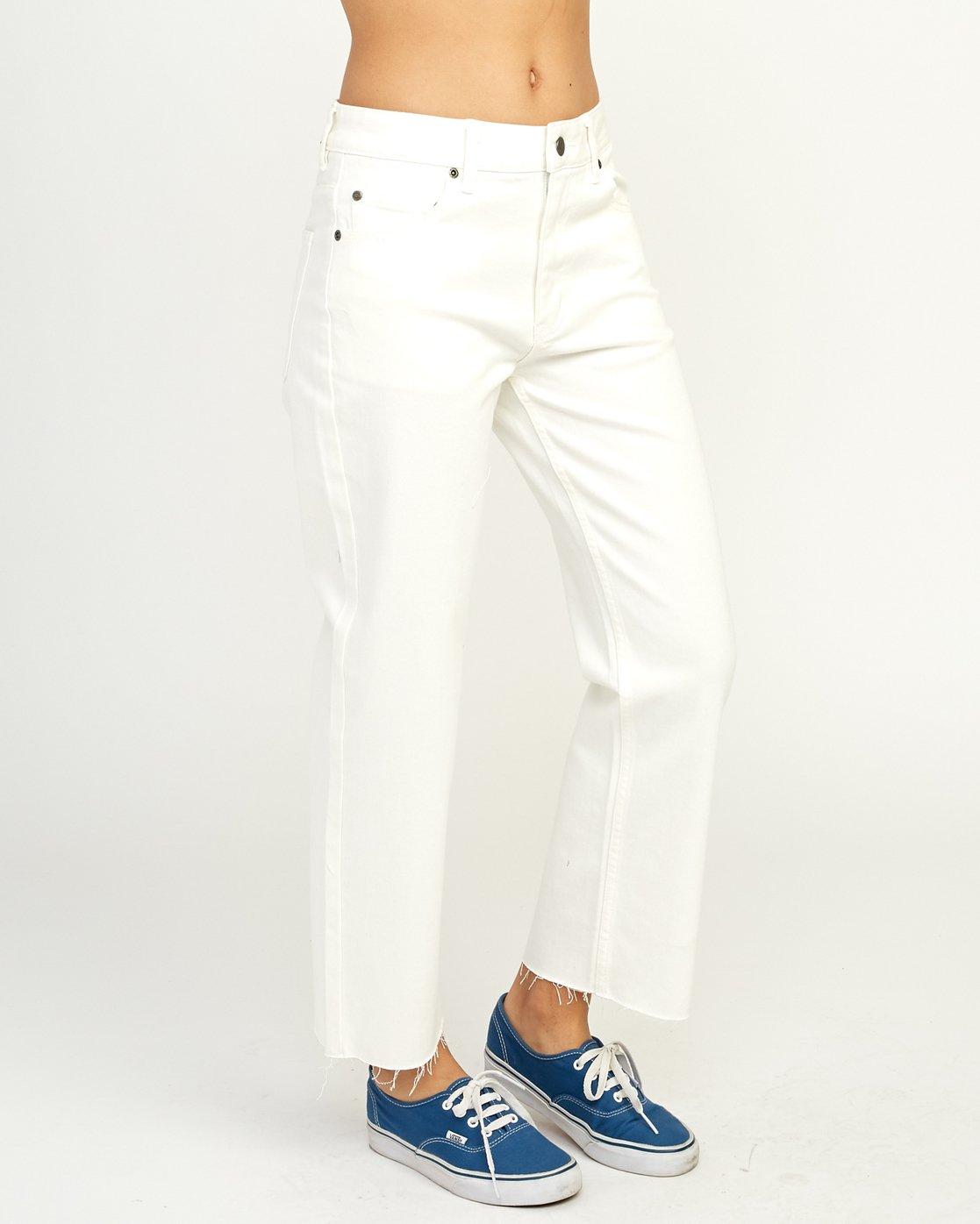 6 Filtered Straight Leg Denim Jean White W301QRFL RVCA