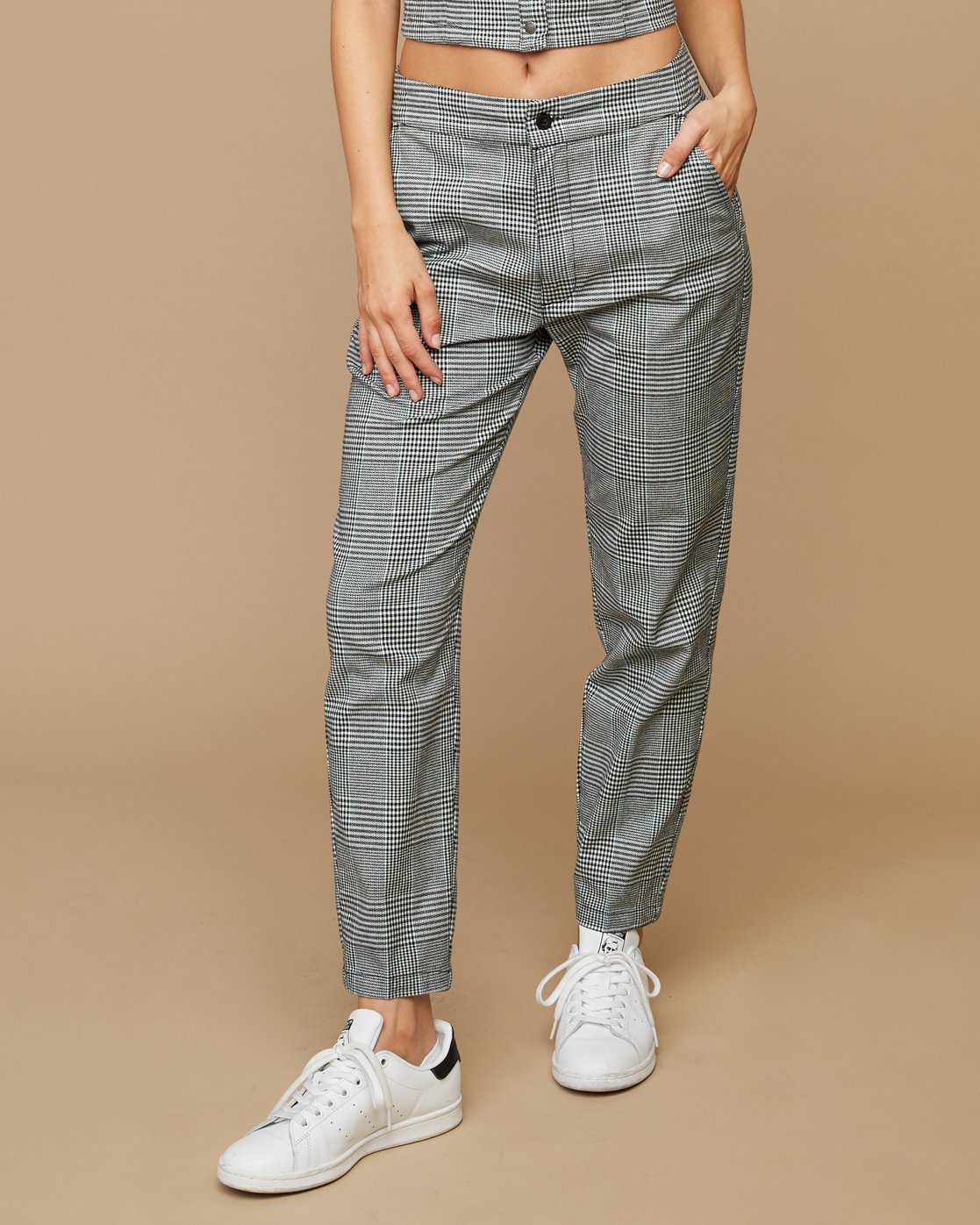 1 Remy Plaid Trousers White W301SRRE RVCA