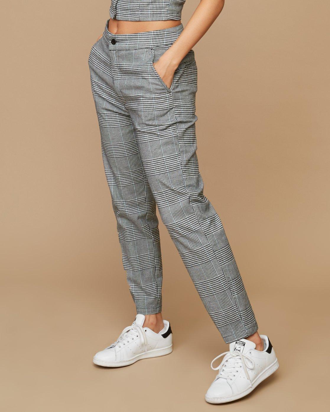 2 Remy Plaid Trousers White W301SRRE RVCA