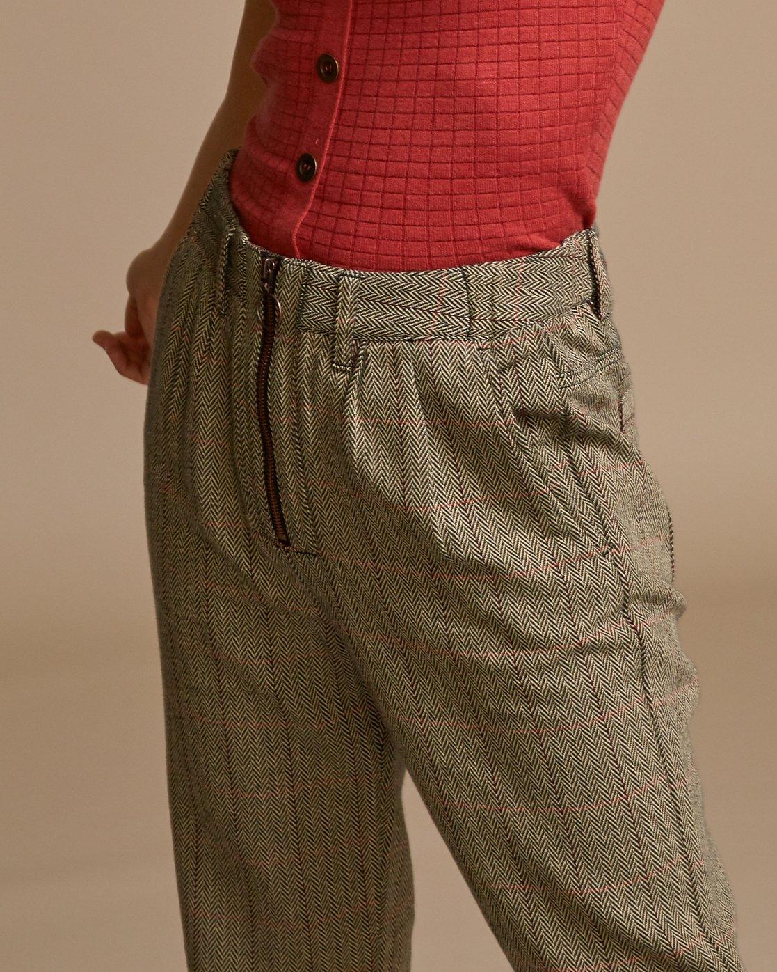 3 Lennex Herringbone Trousers Brown W301VRLE RVCA