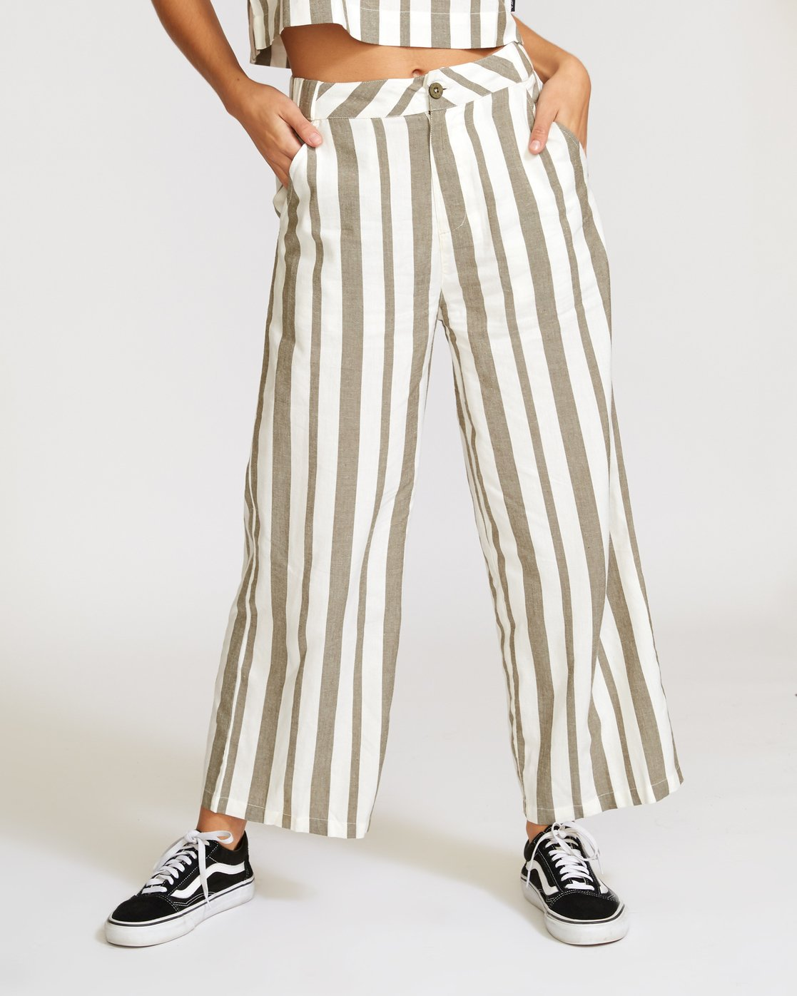 1 Nixes Striped Pant Green W301VRNS RVCA