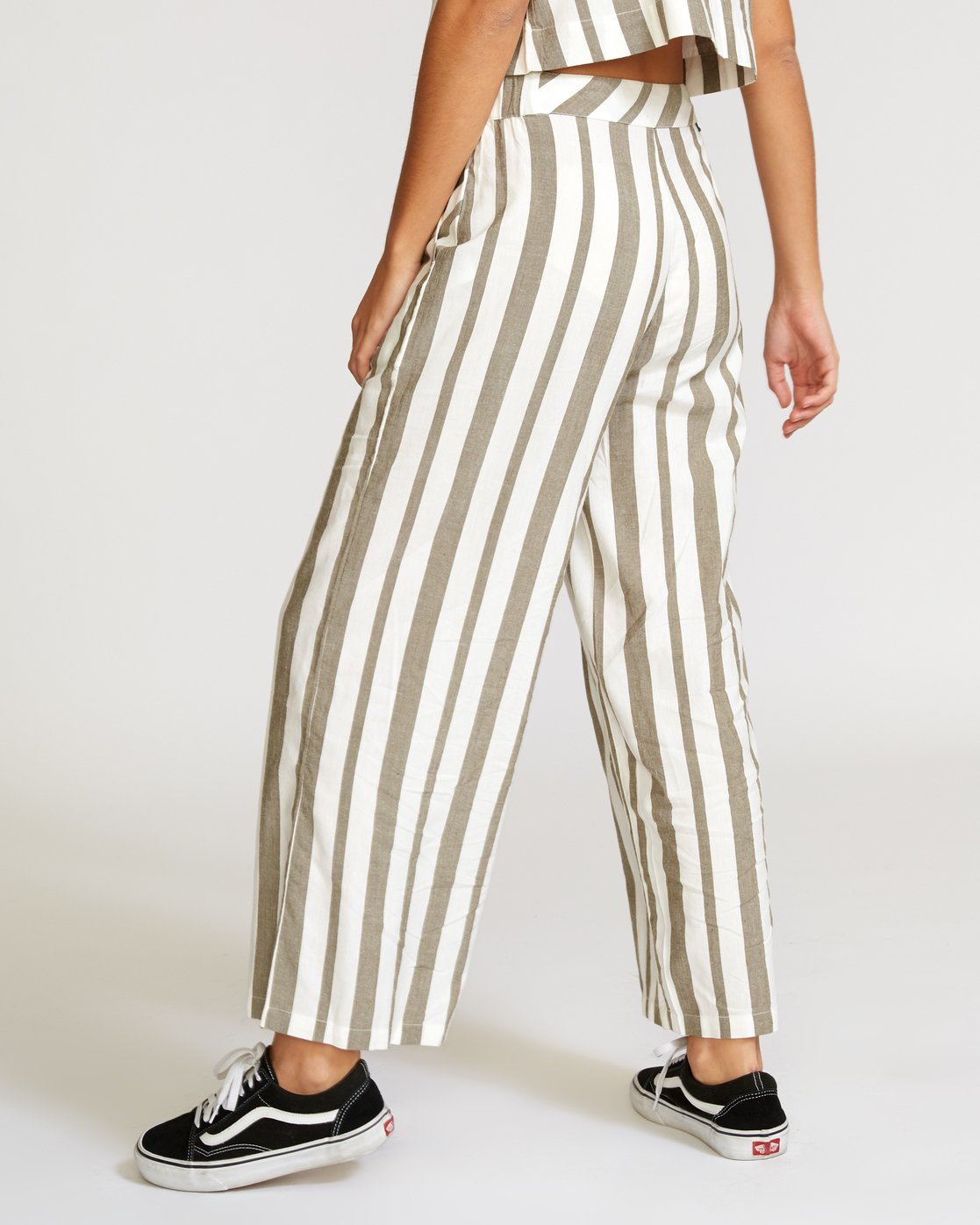 2 Nixes Striped Pant Green W301VRNS RVCA