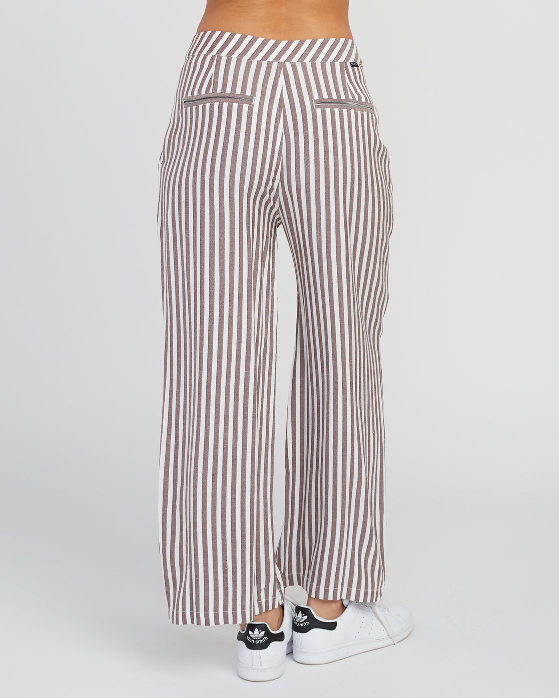 4 Manna Striped High Rise Pants Pink W302SRMA RVCA