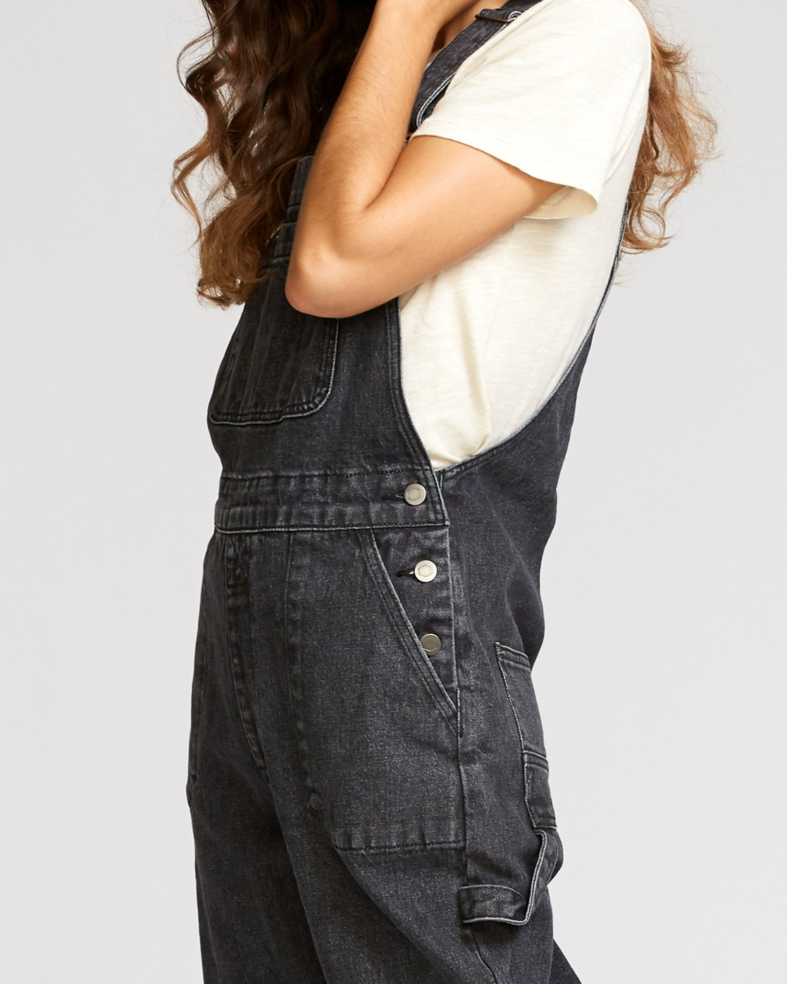 5 Lilo Straight Denim Overalls Black W302VRLI RVCA