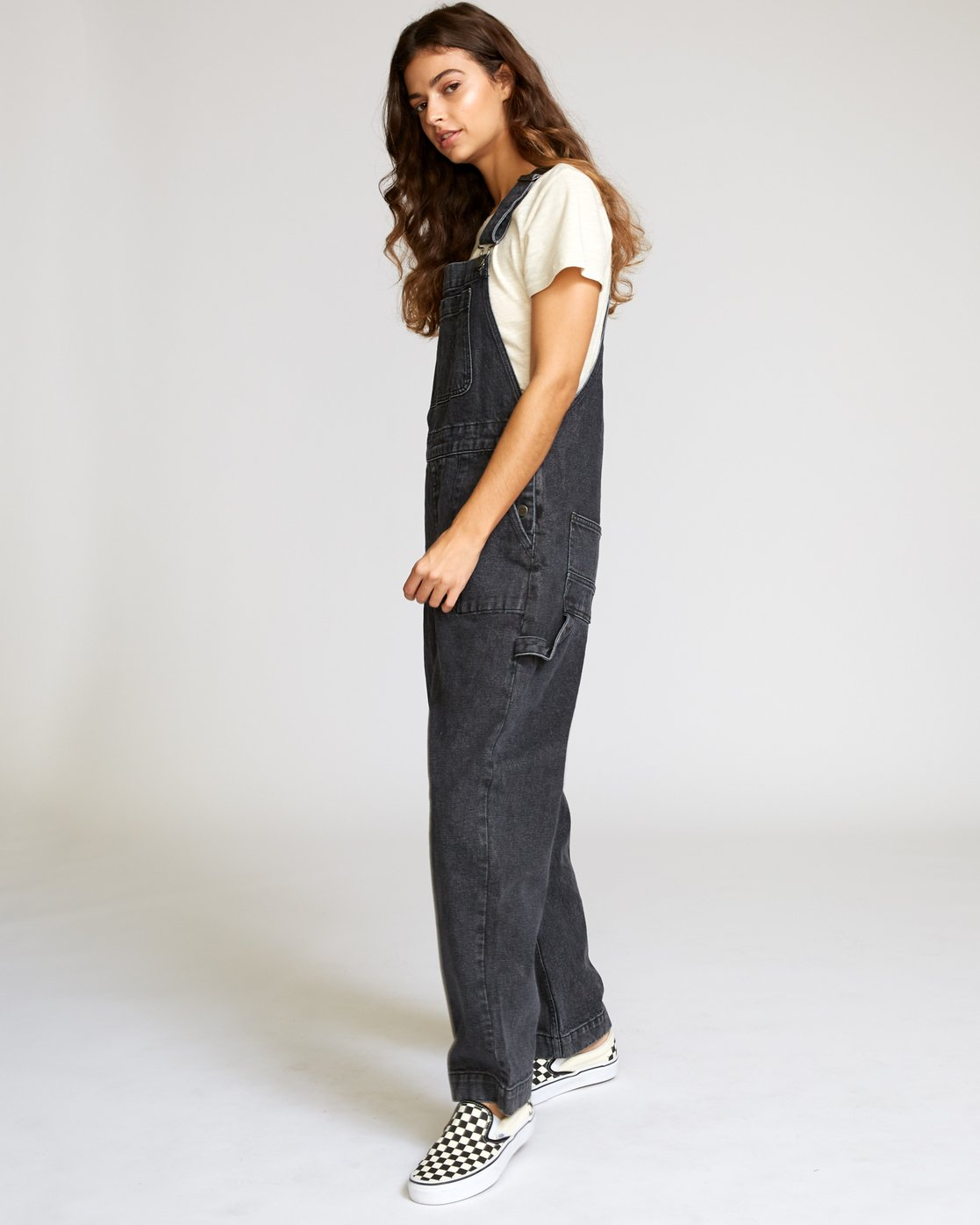 2 Lilo Straight Denim Overalls Black W302VRLI RVCA