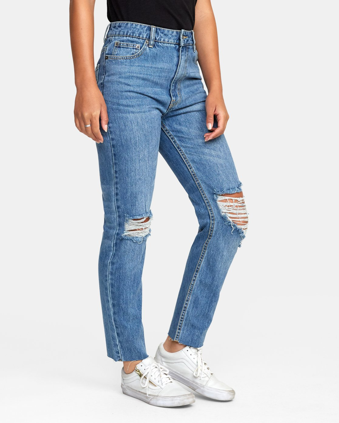 1 Piper High Rise Tapered Jeans Blue W302VRPI RVCA
