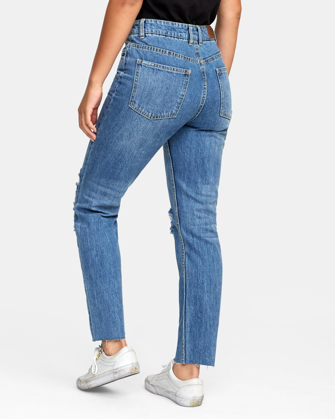 4 Piper High Rise Tapered Jeans Blue W302VRPI RVCA