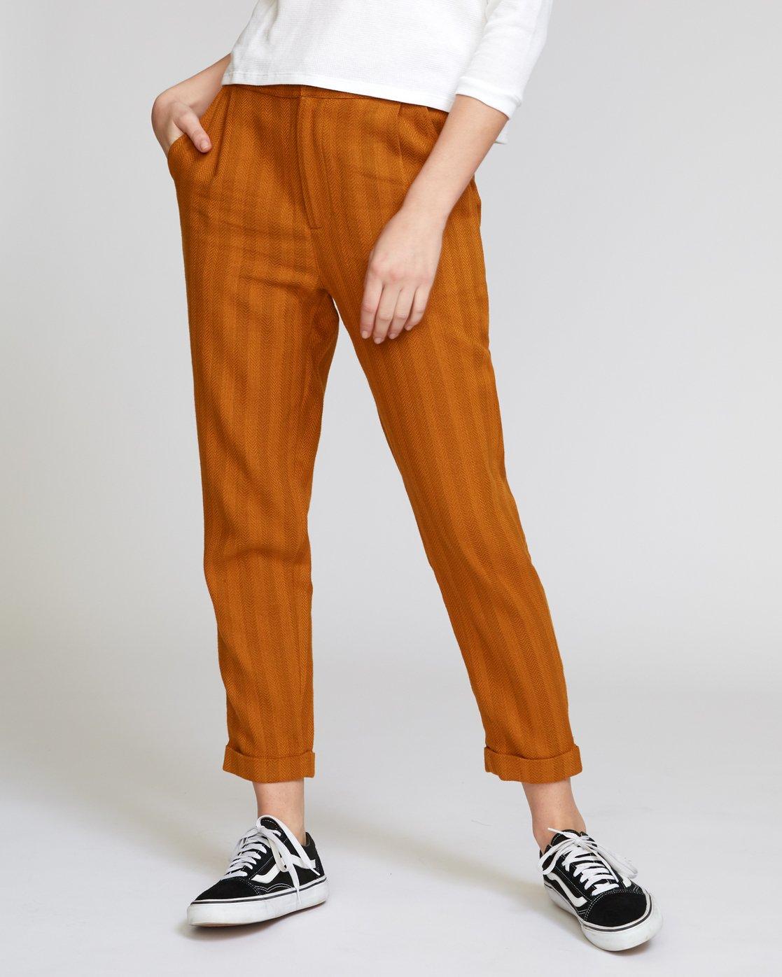0 Scout Striped Trouser Orange W302VRST RVCA