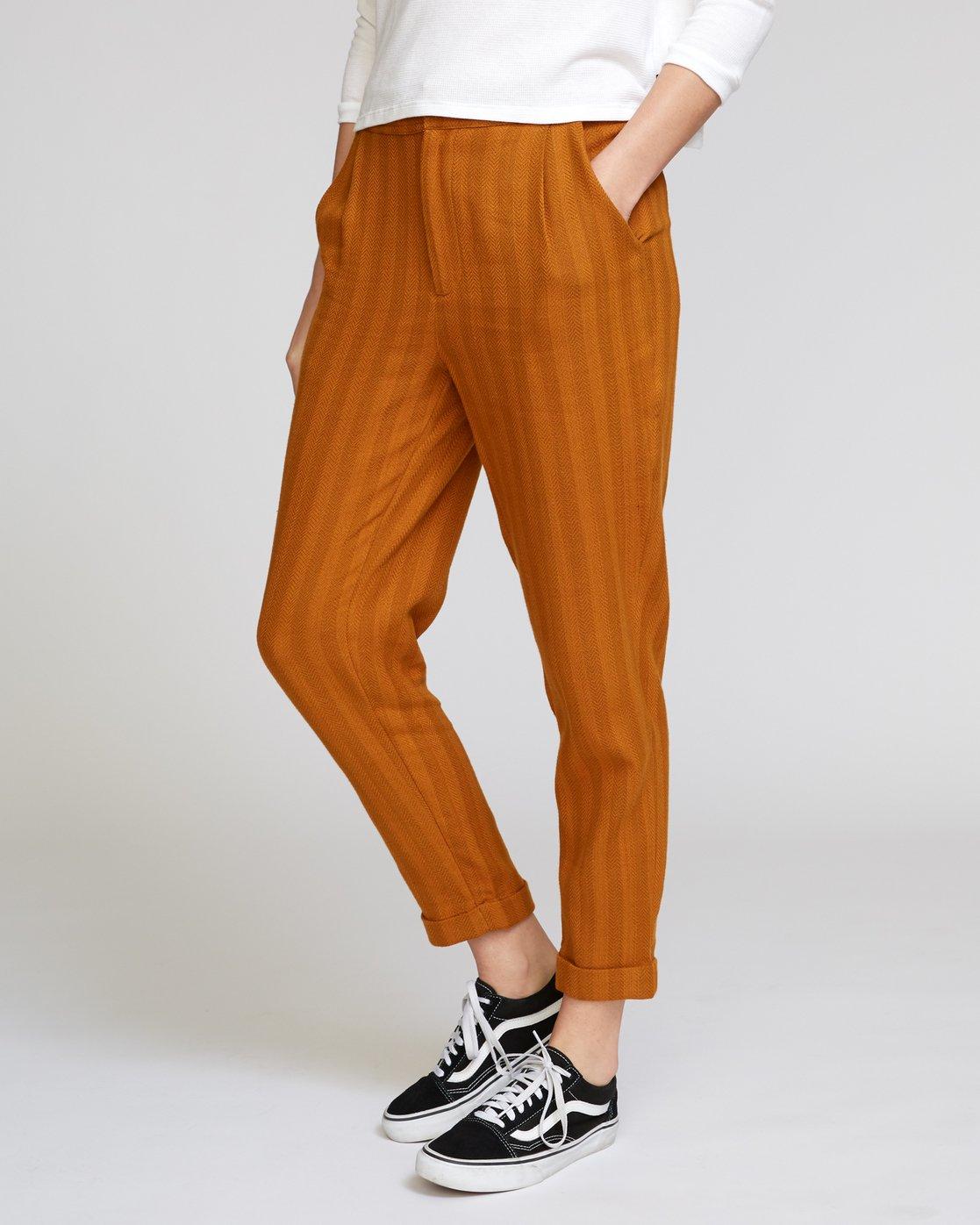 1 Scout Striped Trouser Orange W302VRST RVCA