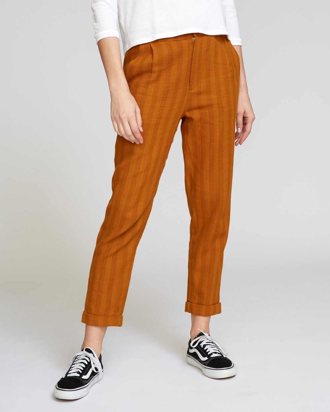 4 Scout Striped Trouser Orange W302VRST RVCA