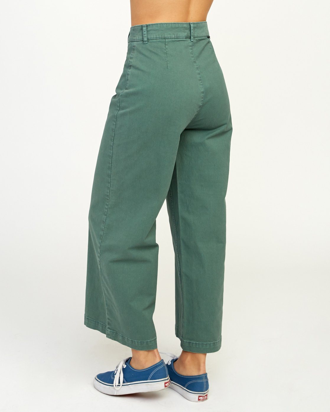 3 Niku High Waist Cropped Trouser Green W303TRNI RVCA