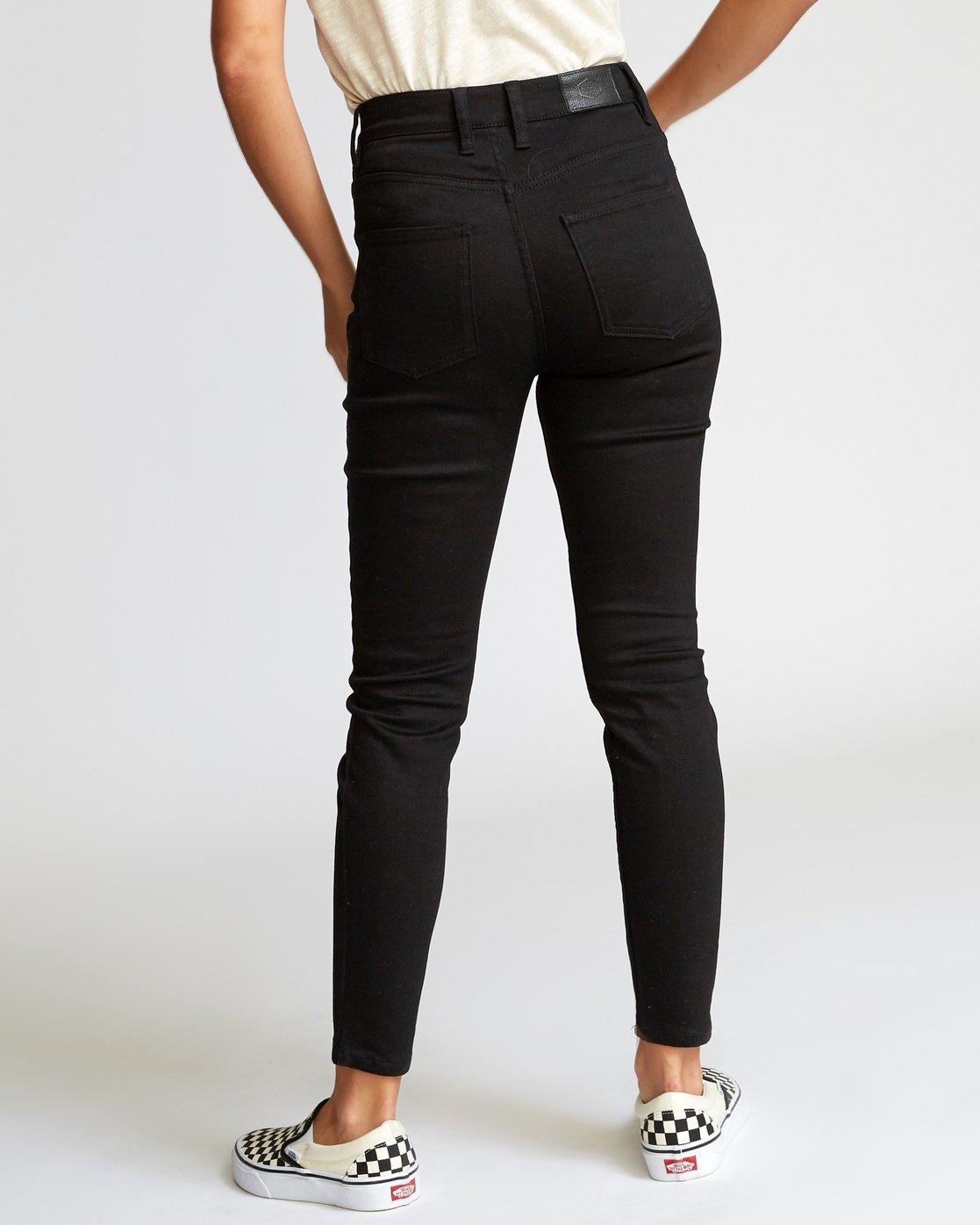 3 Solar High Rise Jeans Black W303VRSO RVCA