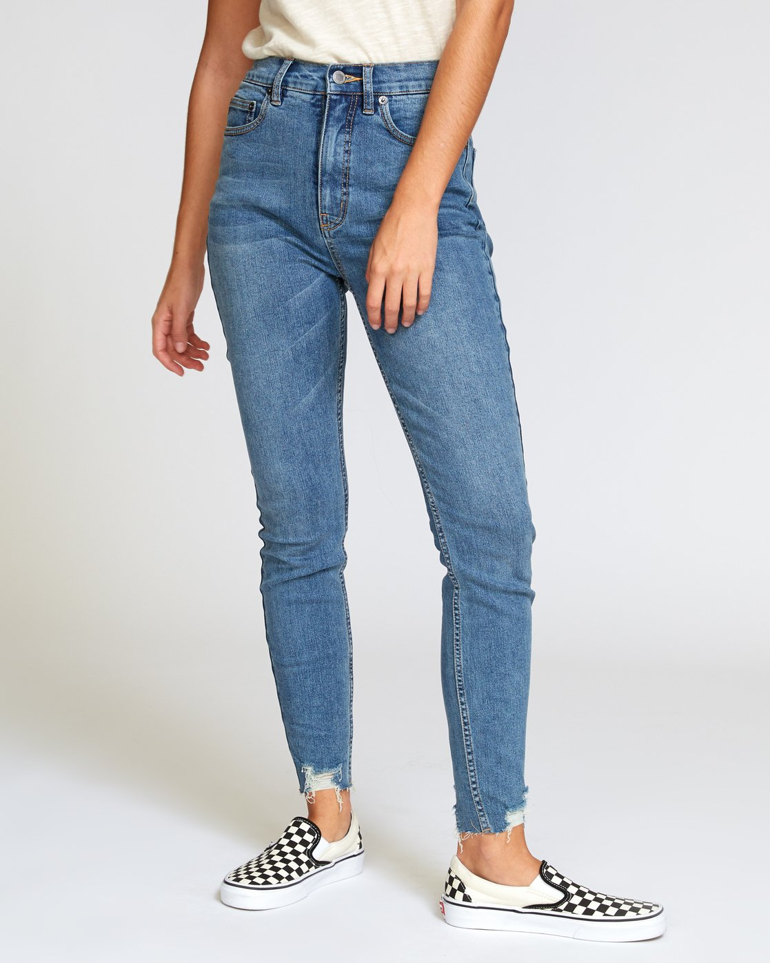 0 Solar High Rise Jeans Blue W303VRSO RVCA