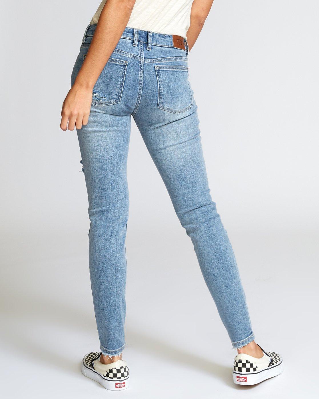 3 Dayley Skinny Jeans Blue W304VRDA RVCA