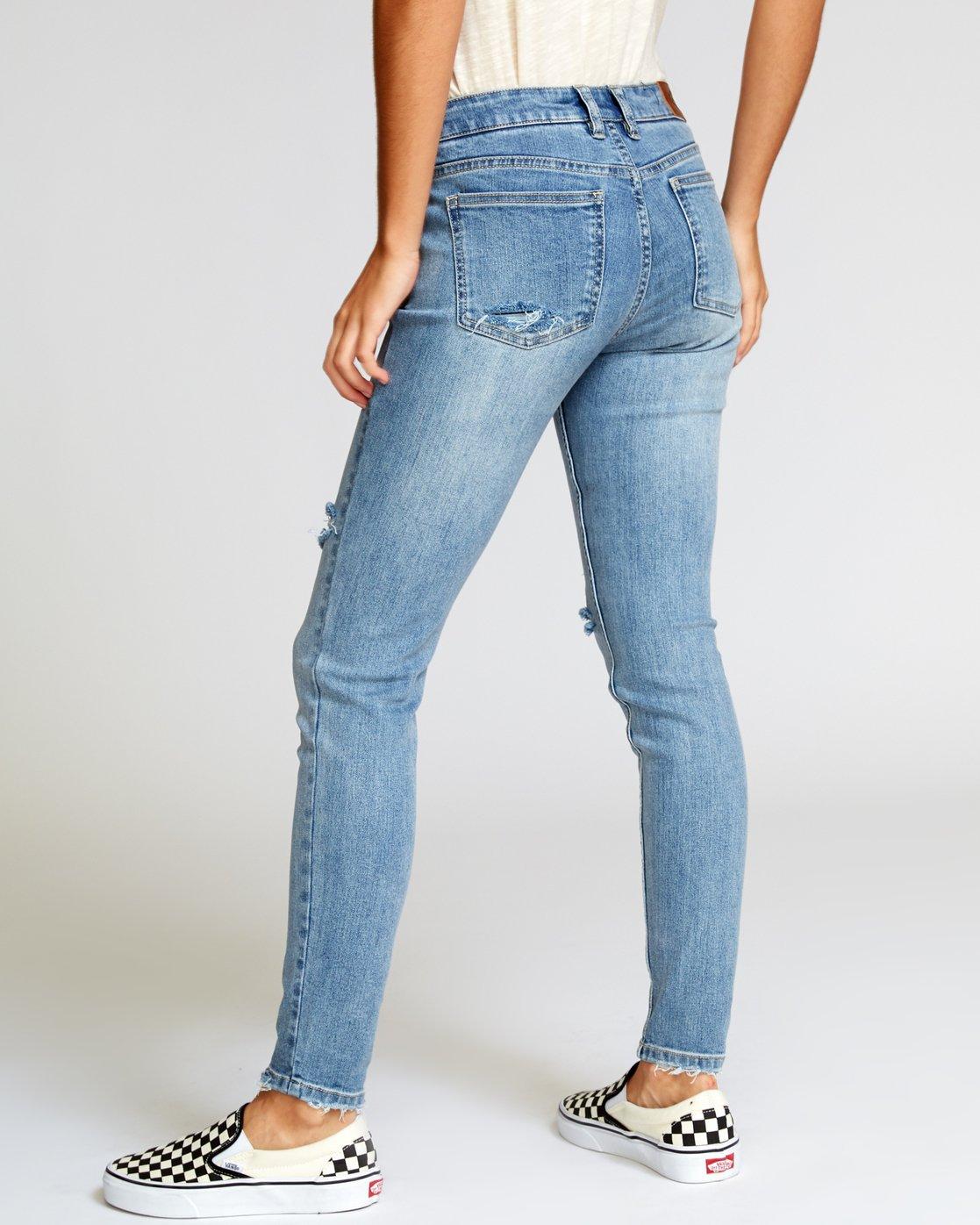 2 Dayley Skinny Jeans Blue W304VRDA RVCA