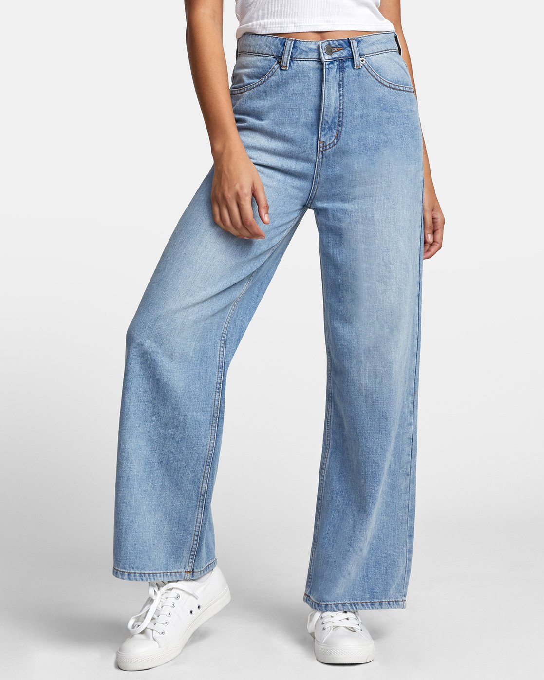 2 COCO HIGH RISE RELAXED DENIM Blue W3063RCO RVCA