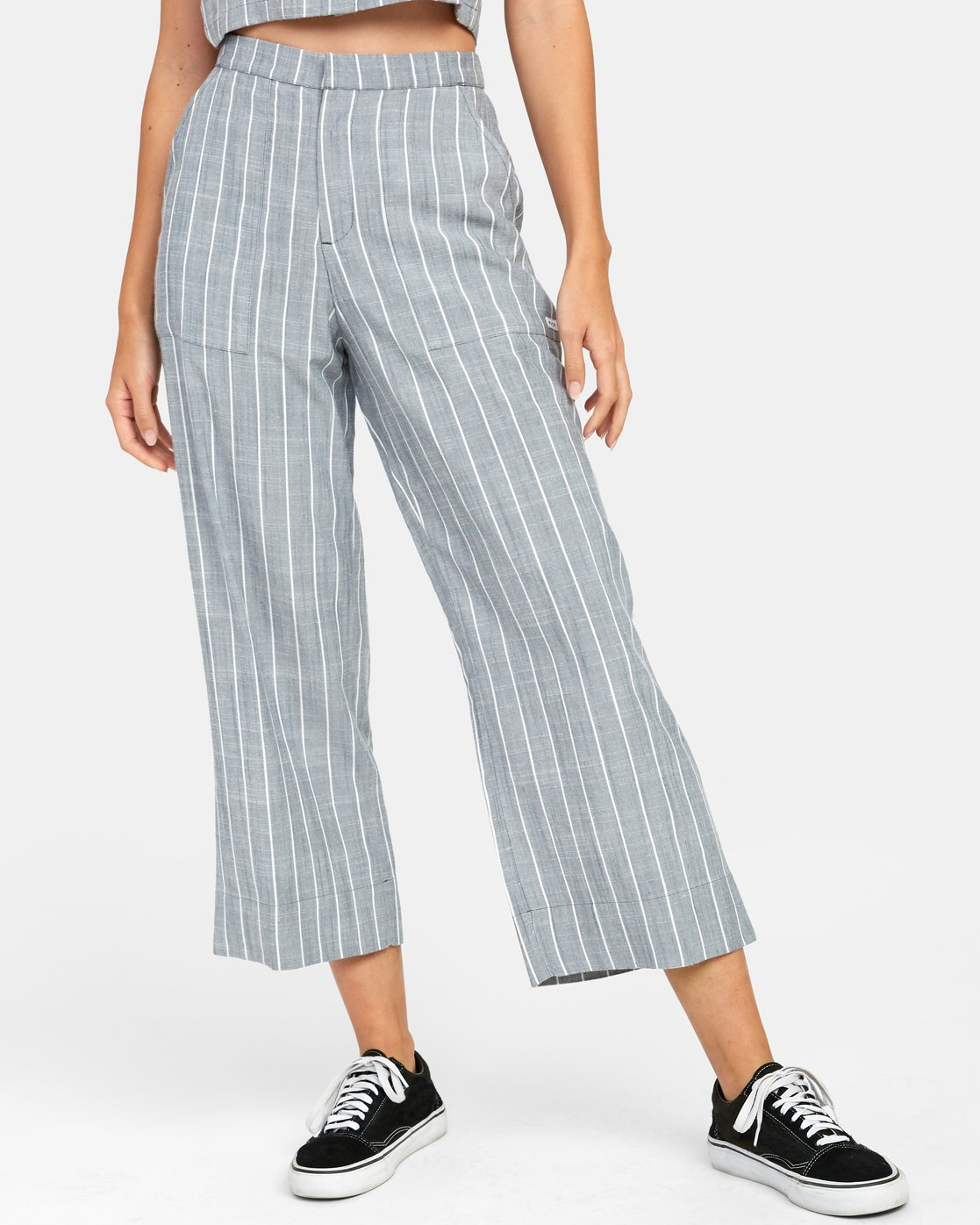 2 GRATITUDE STRIPED HIGH RISE TROUSER Orange W3071RGS RVCA