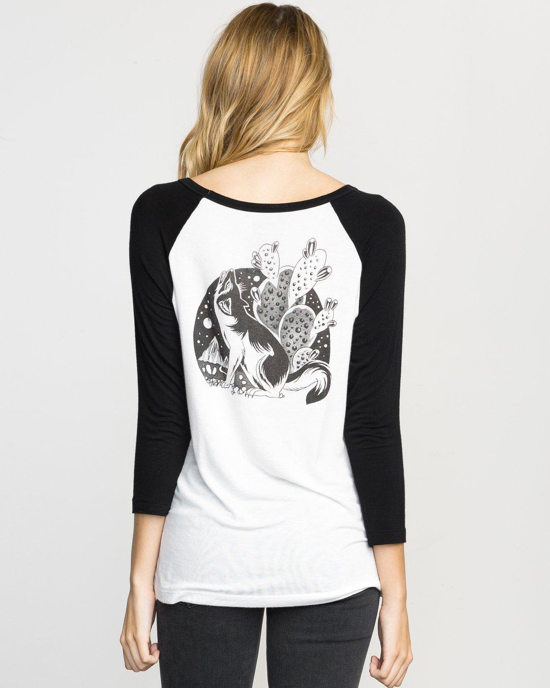 2 Coyote Ringer T-Shirt  W314L02C RVCA