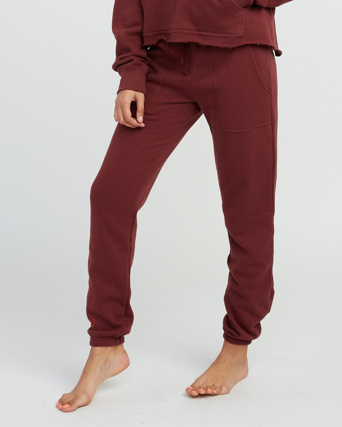 0 Pinner Fleece Sweat Pant Pink W322SRPI RVCA