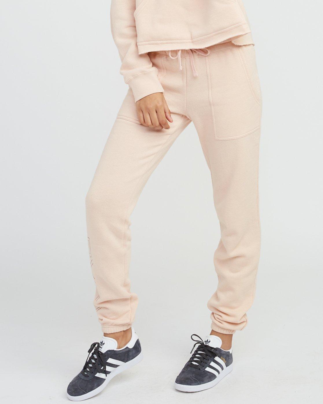 0 Pinner Fleece Sweat Pant Pink W322SRPI RVCA