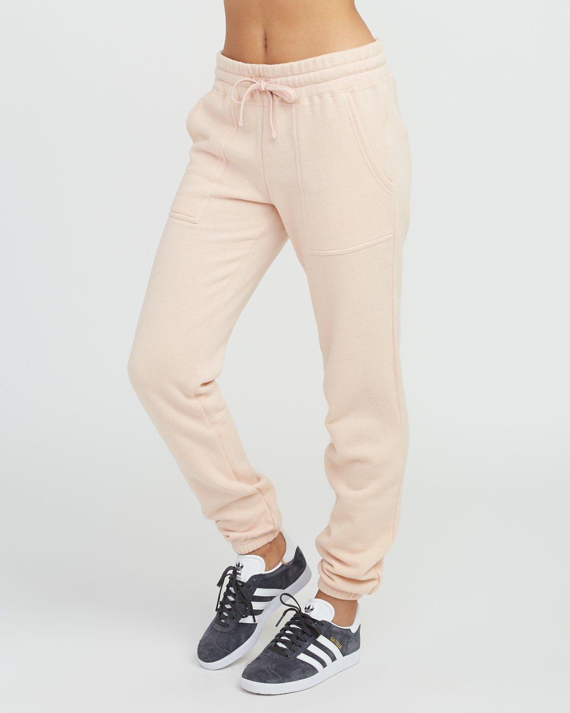 2 Pinner Fleece Sweat Pant Pink W322SRPI RVCA