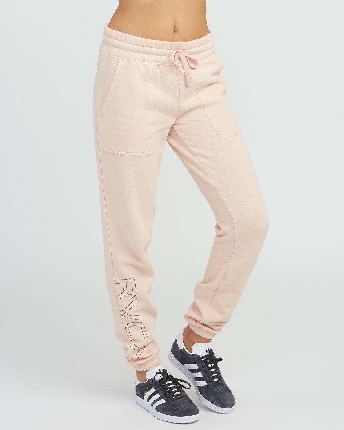 4 Pinner Fleece Sweat Pant Pink W322SRPI RVCA