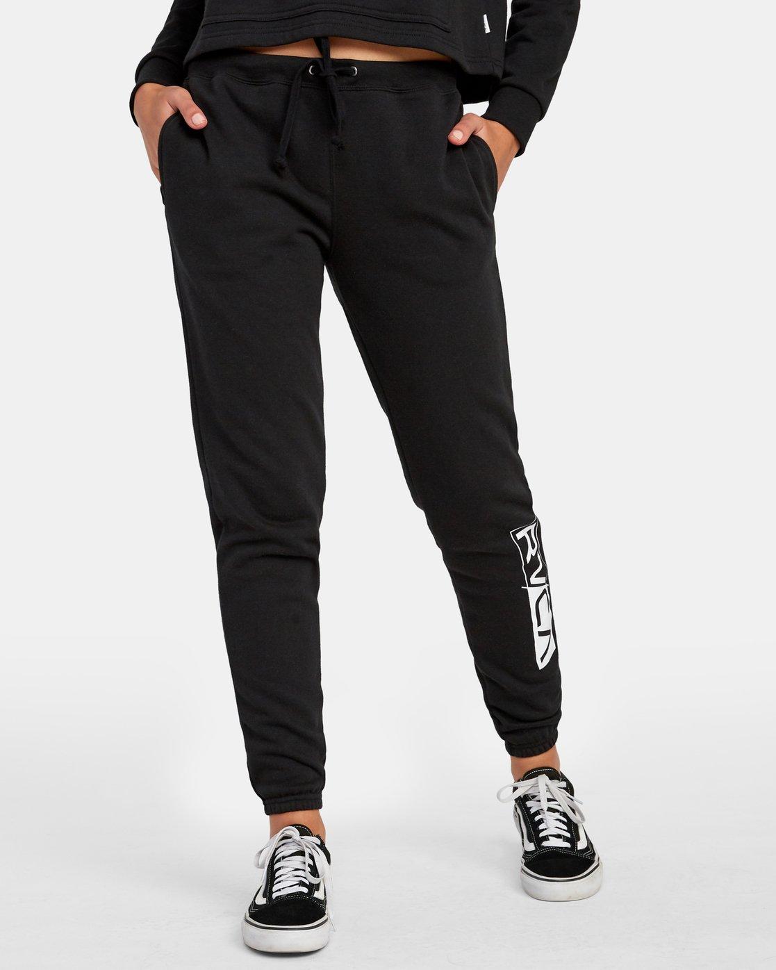 0 Lateral RVCA Sweatpants Black W324WRLA RVCA