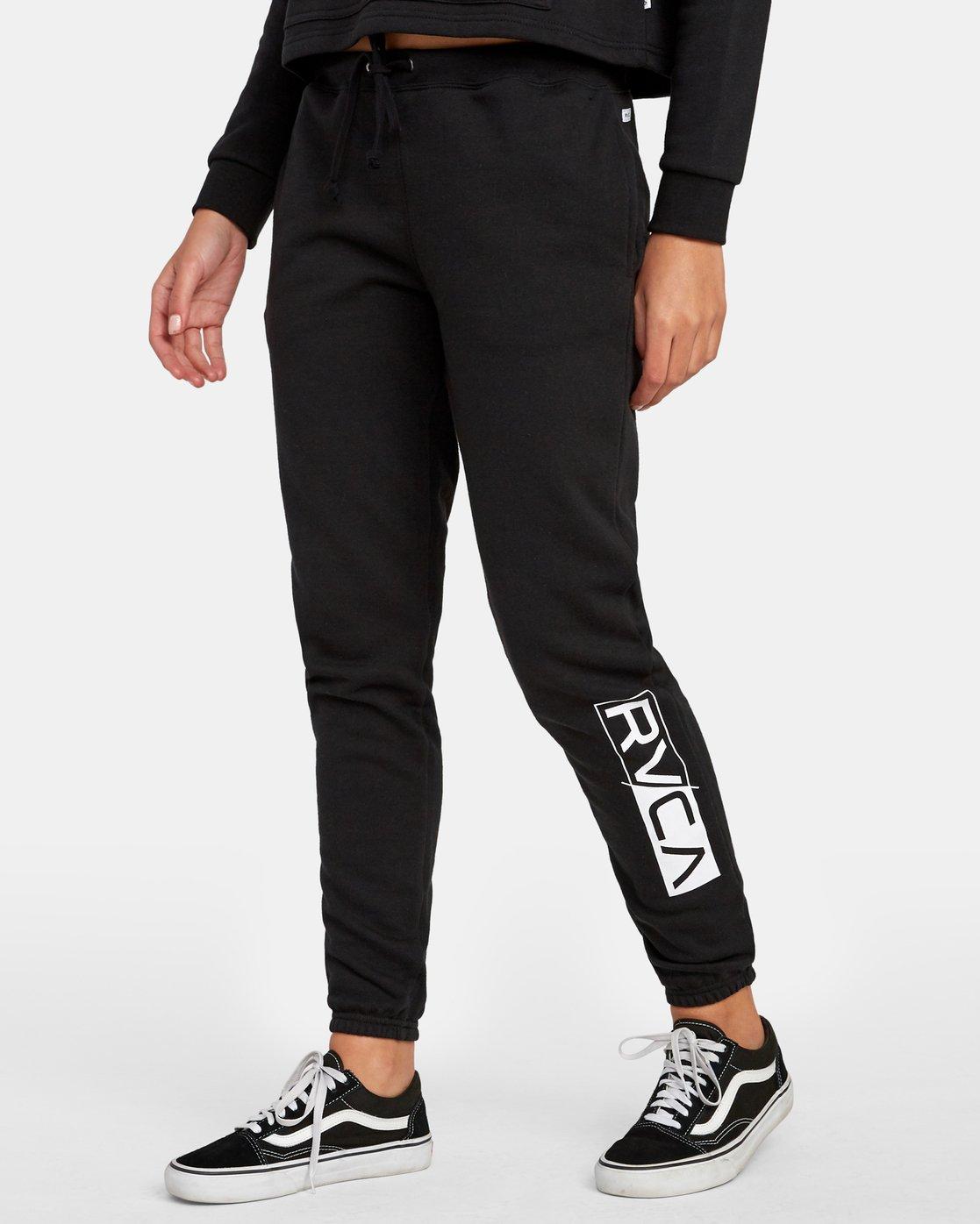 1 Lateral RVCA Sweatpants Black W324WRLA RVCA