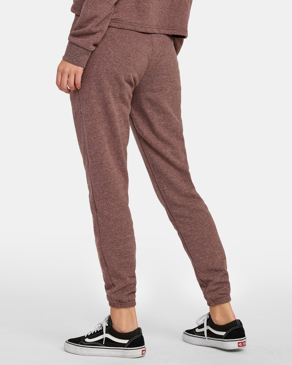 2 Lateral RVCA Sweatpants Brown W324WRLA RVCA
