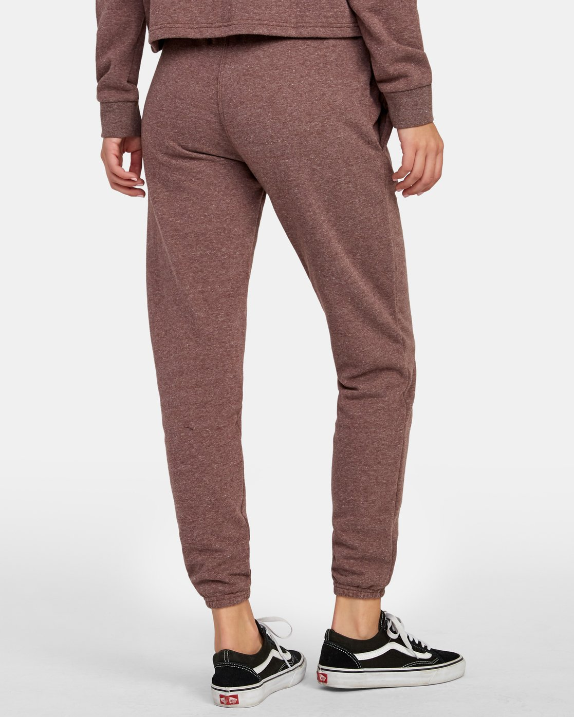 3 Lateral RVCA Sweatpants Brown W324WRLA RVCA